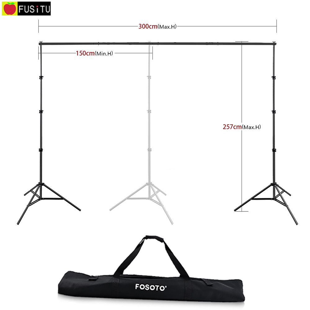 Fusitu 2.57M*3M Photo Background Frame Background Stand photography accessories For Photo Shoot + Carry Bag fit 8 120 35008