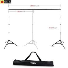 Fusitu 2.6メートル * 3メートル写真の背景フレームの背景の写真撮影の写真撮影アクセサリー + キャリーバッグ