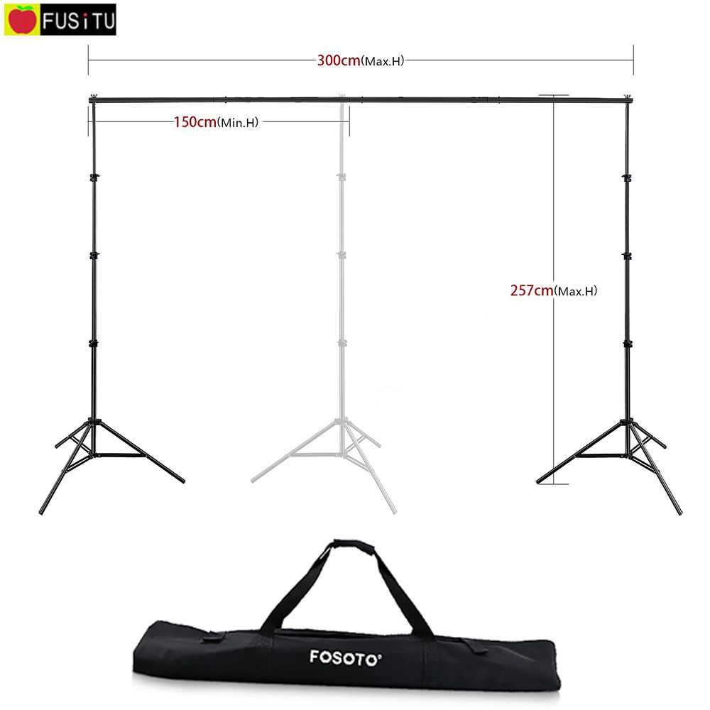 Fusitu 2,6 м * 3 м Фотофон рамка фоновая подставка аксессуары для фотосессии + сумка для переноски