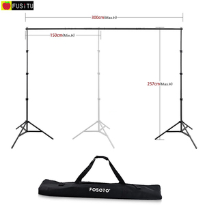 Fusitu 2.6M*3M Photo Background Frame Background Stand photography accessories For Photo Shoot + Carry Bag