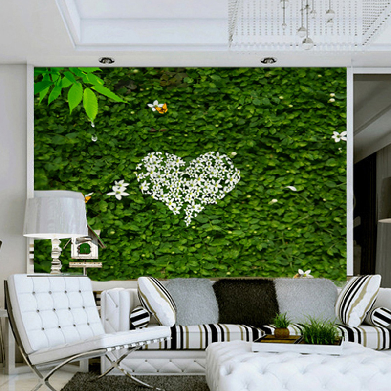 Custom 3d photo wallpaper garden greenery ivy wallpaper for 3d photo wallpaper for living room