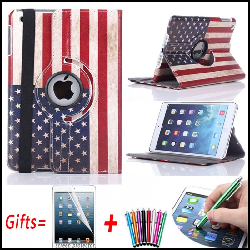 UK Country National Flag Cover Case For iPad mini 4 360 Rotating PU Leather Cover for iPad mini 4 Case with Stand Holder