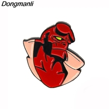 P3708 Dongmanli Hellboy Metal Enamel Pins and Brooches for Lapel Pin Backpack Bags Badge Cool Gifts Collar Jewelry bering 11937 402