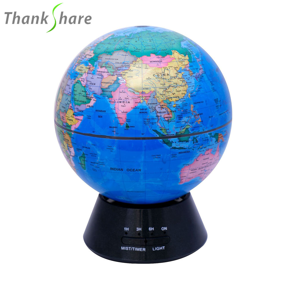 THANKSHARE 300ml Aroma Diffuser Air Humidifiers globe Aroma Lamp Aromatherapy Diffuser Mist Maker 7 LED Light Changing for Home