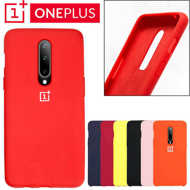 Oneplus 6 בחזרה מקרה כיסוי אחד בתוספת 6 t רך נוזל סיליקון טלפון מקרה Oneplus 7 פרו Ultra דק עמיד הלם מלא Protectiver מקרי