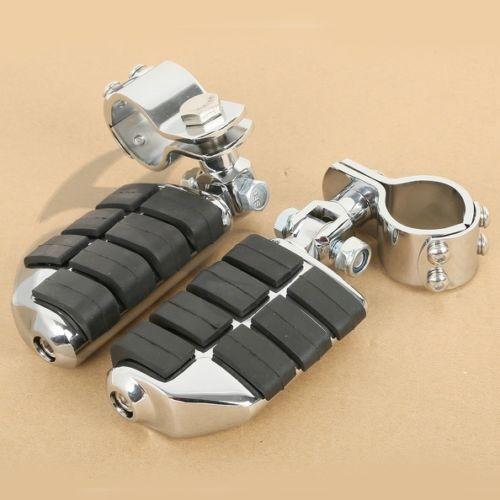 Chrome Dually Highway Foot Pegs FootPegs For Honda GoldWing GL1500 GL1100 GL1200 Harley 25mm 30mm 35mm YAMAHA XV250 XV535 XV750