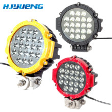 1PCS Black / Red / Yellow offroad Led Work light 7inch 63w Led Driving Light Spot Beam for atv suv 4x4 truck vehicle