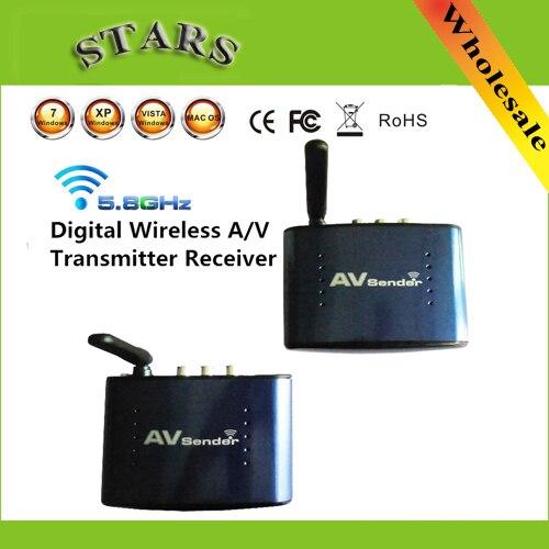 PAT-630 sans fil 5.8 GHz Audio vidéo AV RCA émetteur récepteur Extender 200 m dispositif numérique pour DVD DVR IPTV STB PAT630