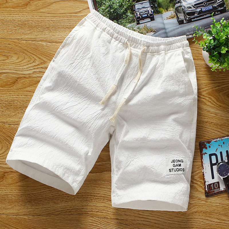 2019 New Shorts Men Hot Sale Casual Shorts Homme Quality Bottoms Elastic Waist Pure Color Fashion Brand Shorts Plus Size 3XL