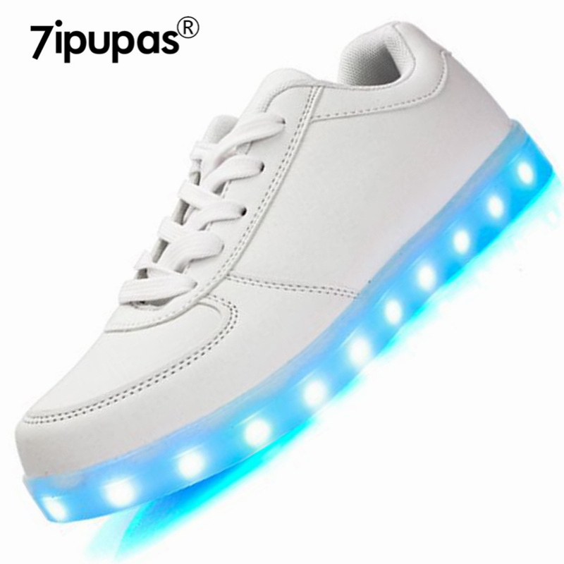 7ipupas Led sneakers Luminous Insulation Men Unisex Shoes Comfortable Glowing Led Light Shoes 11 colors LED Shoes Tenis Feminino glowing sneakers usb charging shoes lights up colorful led kids luminous sneakers glowing sneakers black led shoes for boys