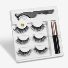 Eyeliner Liquid Magnetic False Eyelashes Tweezer Set Eye Lashes Kit Wo