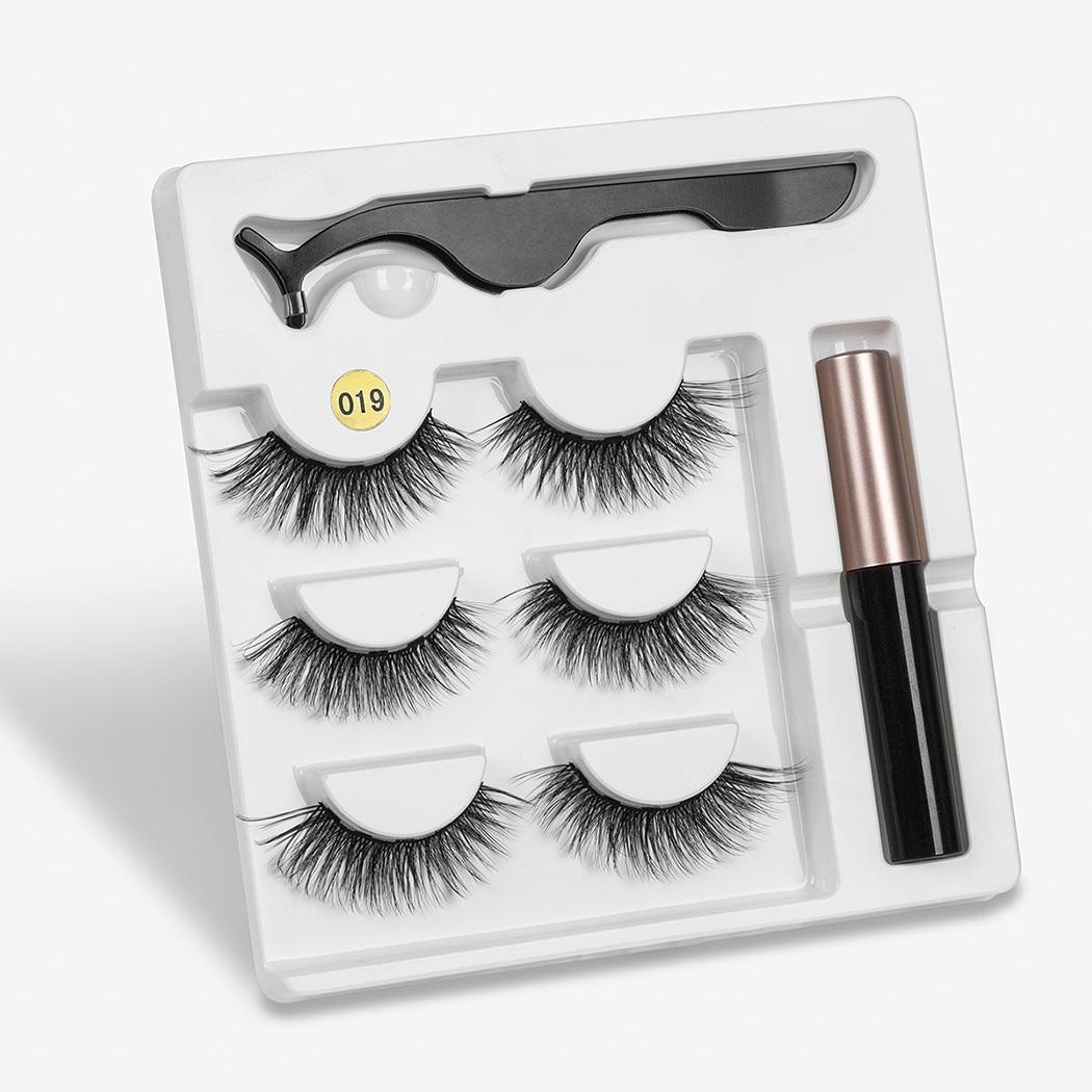 Eyeliner Liquid Magnetic False Eyelashes Tweezer Set Eye Lashes Kit Wo