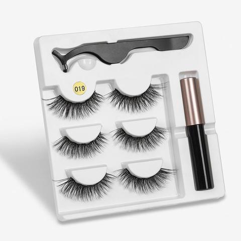 Eyeliner Liquid Magnetic False Eyelashes Tweezer Set Eye Lashes Kit Women Black Makeup Pakistan