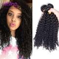Великолепная 3 Пучки Малазийский Странный Вьющиеся Волосы, На Продажу Али Moda Странный Вьющиеся Плетение Волос Малайзии Вьющихся Волос