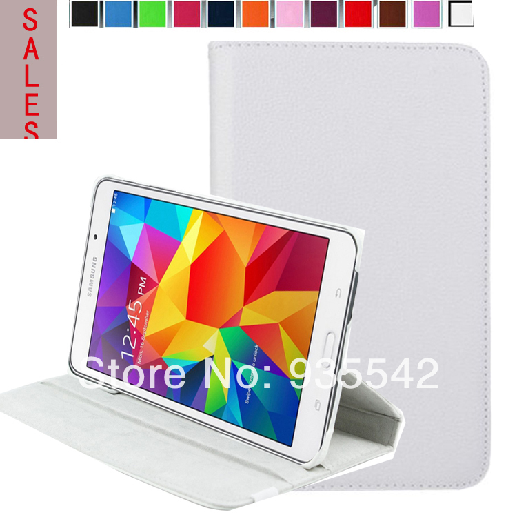 Multi-angle Folio 360 Rotating Smart Stand Leather Cover Case for Samsung Galaxy Tab 4 8.0 inch ( SM-T330 /T331/ T335 ) (White)