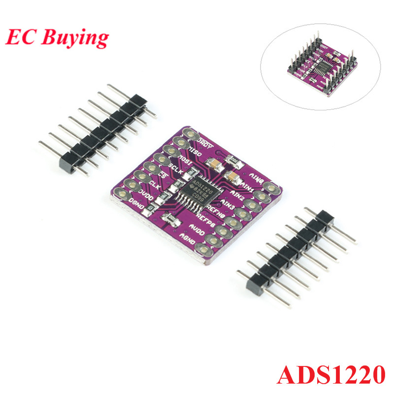 ADS1220 ADC 24 Bit Converter Module I2C Low Power 24 Bit Analog-to-Digital ConverterADS1220 ADC 24 Bit Converter Module I2C Low Power 24 Bit Analog-to-Digital Converter