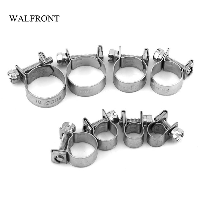 WALFRONT 10pcs Lot Wire Hose Clamps Mini Fuel Line Pipe Hose Clips Stainless Steel Plumbing Fastener_640x640 walfront 10pcs lot wire hose clamps mini fuel line pipe hose clips