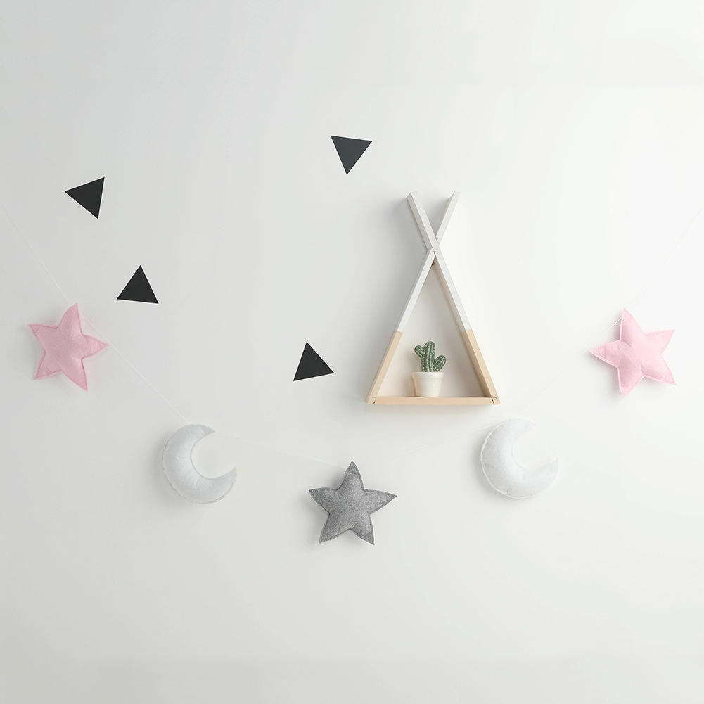 Nordic Style Star Moon Hanging Children's Room Crib Tent Bed Matching Decoration Wall Hanging Girls Baby Tents Decorative