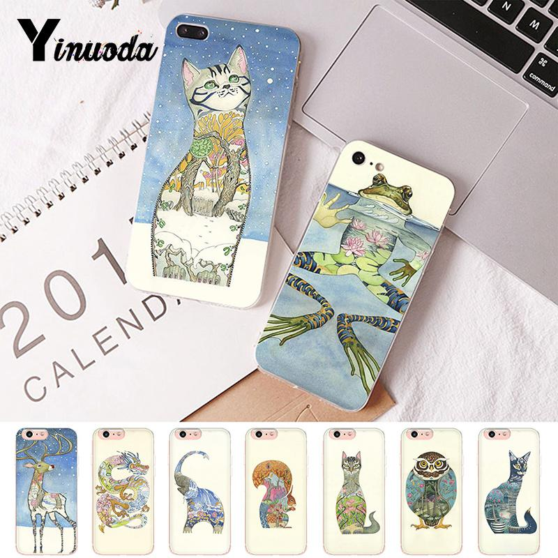 Yinuoda Japanese ukiyo-e Art Pattern Luxury Unique Design <font><b>PhoneCase</b></font> for <font><b>iPhone</b></font> 6S 6plus 7 <font><b>7plus</b></font> 8 8Plus X Xs MAX 5 5S XR image
