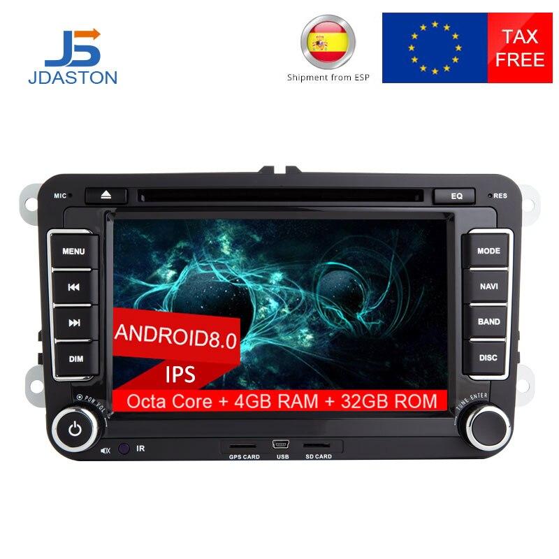 все цены на JDASTON 7 Inch Android 8.0 Car DVD Player For VW Volkswagen POLO PASSAT Golf Multimedia player Octa Cores Radio GPS Navigation онлайн
