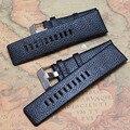 22 мм 24 мм 26 мм 28 мм 30 мм кожа ремешки для наручных часов ремни черный браслет смотреть band пояса часы аксессуары натуральной кожи