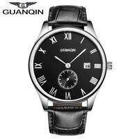 Watches Men Luxury Brand Wrist Watch Fashion Brand GAUNQIN Genuine Cow Leather Men High Quality Luminous