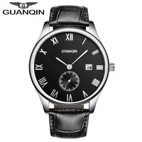 Watches Men Luxury Brand Wrist Watch Fashion Brand GAUNQIN Genuine Cow Leather Men High Quality Luminous