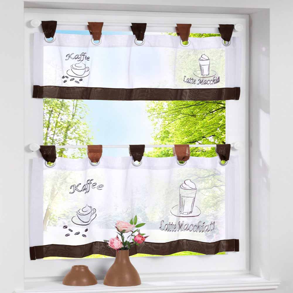 Beatiful Kitchen Curtains Coffee Window Curtain Ribbon Transpa Plastic Rod Height Adjule Roman Blinds Seven Colors In From Home