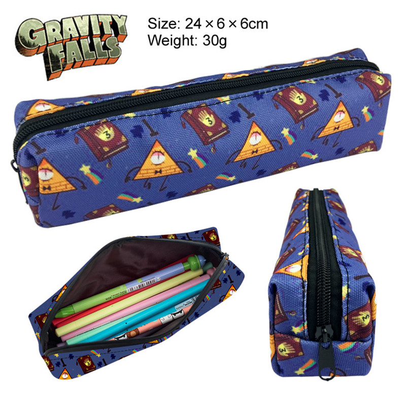 Pouch Wallet Pencil-Bag Zipper-Case Gravity Falls Student Anime Cartoon Canvas Gift Printing
