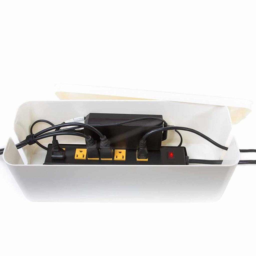 Cable Management Box 15.7x6.1x5.3 inches Cable Management Box Organizer Super Large Cable box for Power Strips