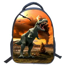 Nouveau Design De Mode Dinosaure Enfants Sac D'école Sac À Dos Cool 3D Zoo Animaux Impression À Dos Dinosaure Bagpack pour Garçons