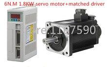 """חדש סרוו מנוע מערכת ערכת 6N.M 1.8KW 3000 סל""""ד 110ST AC סרוו מנוע 110ST M06030 + מתאים סרוו מנוע נהג"""