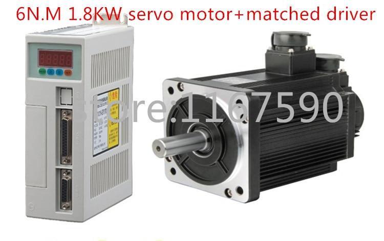 NEW Servo motor system kit 6N. M 1.8KW 3000 RPM servomotore 110ST AC Servo Motor 110st 110ST-M06030 + Abbinato driver