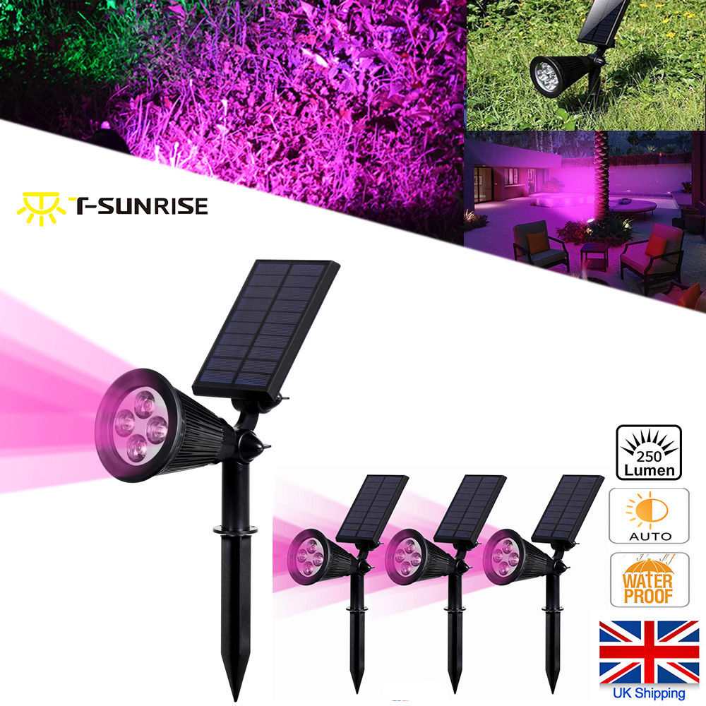 Led Solar Spotlights 4 Leds Waterproof