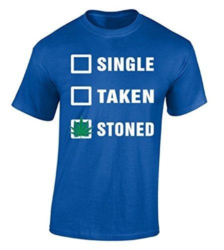 T-shirt de algodão Camisa Dos Homens T Single Retirado Apedrejado Fumar Erva Daninha Camisa Conforto Macio T Concerto