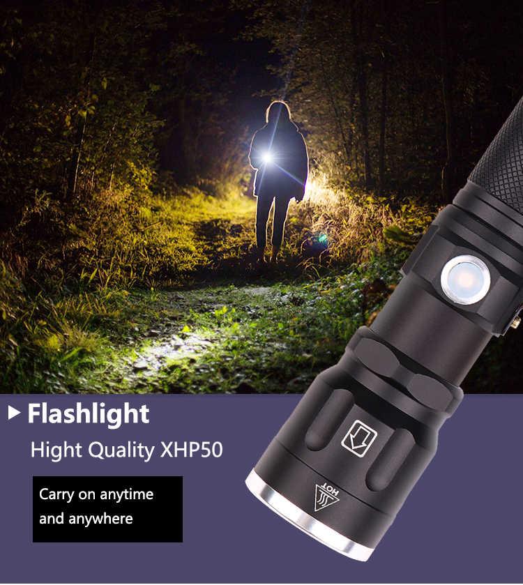 32000 люменов светодиодный светильник xhp50 ультра яркий водонепроницаемый светодиодный фонарь linterna xhp50 18650 лучший кемпинг, уличный светильник