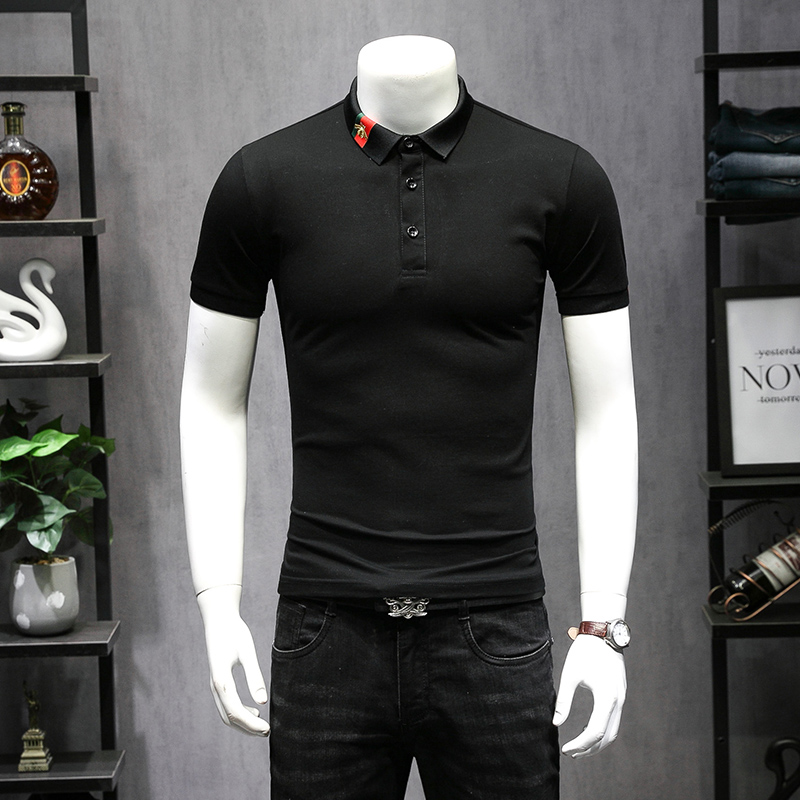 High Quality   Polos   2019 New Best Designer Items Embroidery Men   Polo   Shirts Solid Color Short Sleeve Breathable Shirt 5XL 9257