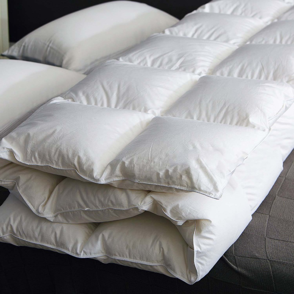 95 Natural White Goose Feather Down Winter Comforter Soft Warm Fluffy Duvet Quilts Single Double Queen King Size Hotel Comforter in Comforters Duvets from Home Garden