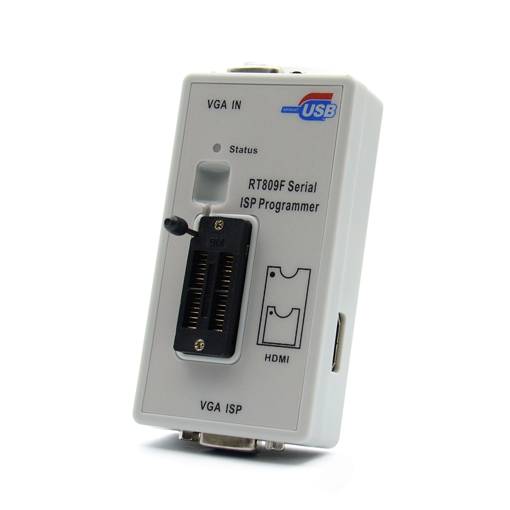 RT809F Serial ISP Programmer with 12 adapters, 1.8v adapter, SOP8 test clip and EDID cable