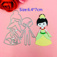 1pcs Princess girl metal Cutting Die+1PCS carft Tag Stencils for DIY Scrapbooking/photo album Decorative Embossing Paper Cards