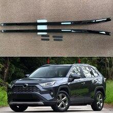 Ajuste para Toyota RAV4 XA50 2019 negro 2020 de aleación de coche de aluminio Auto techo superior Rack Rails barras de Bar