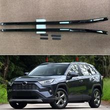 fit For Toyota RAV4 XA50 2019 2020 BLACK Aluminum Alloy Car Auto Top Roof Rack Rails Bars Carrier Bar