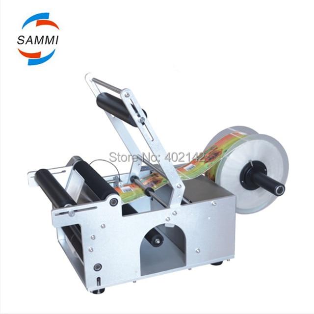 Free Shipping,100% Warranty MT-50 Semi-Automatic Round Bottle Labeling Machine/sticker, labler,label machine цены