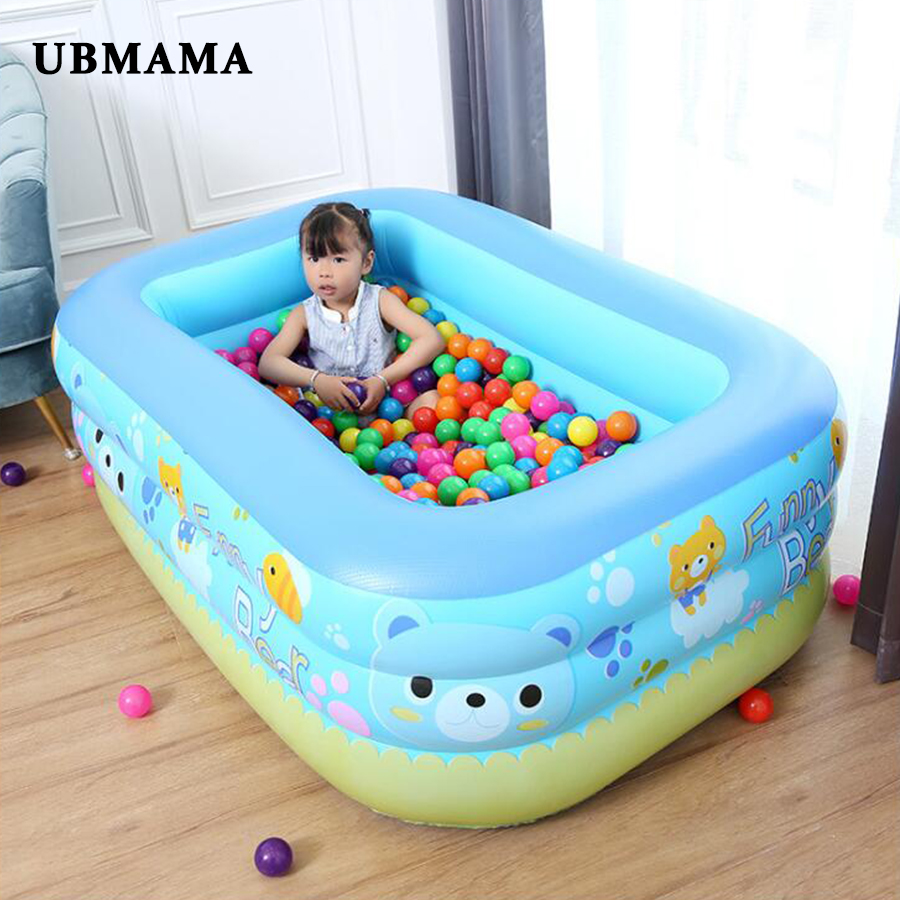 Inflatable Square PVC Children's Swimming Pool Cartoon Pattern Heat Preservation Kids Paddling Baby Pool