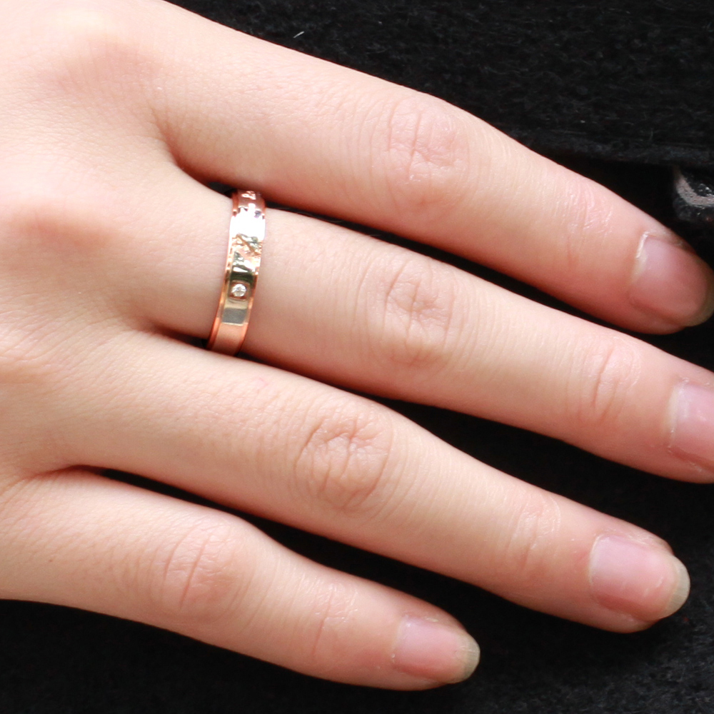 Stainless Titanium Steel Jewelry His and Hers Anniversary Wedding ...