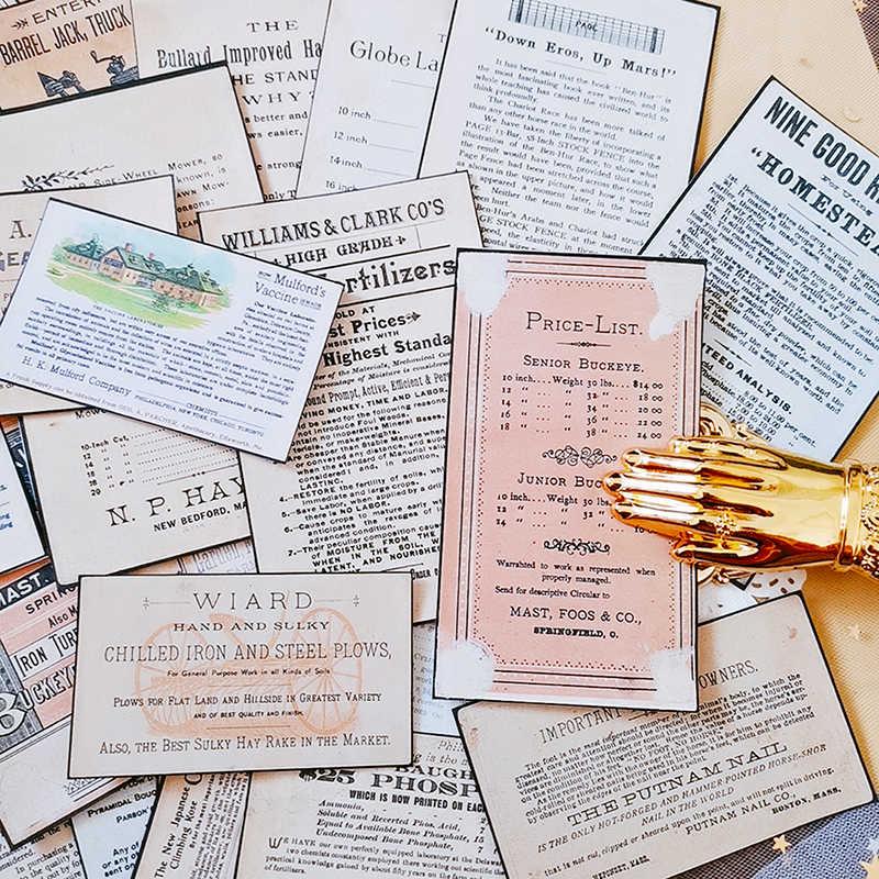 32 Pcs Eski Gazete İngilizce Arka Plan Çıkartmalar Önemsiz Dergisi Planlayıcısı Etiketler Scrapbooking Vintage Dekoratif Çıkartmalar DIY Zanaat