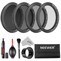 Neewer HD Filter Kit for DJI Phantom 4/3 Professional/Advanced/Standard:UV/CPL/ND4/ND8 Filter with Adapter+Air Blow+Filter Pouch