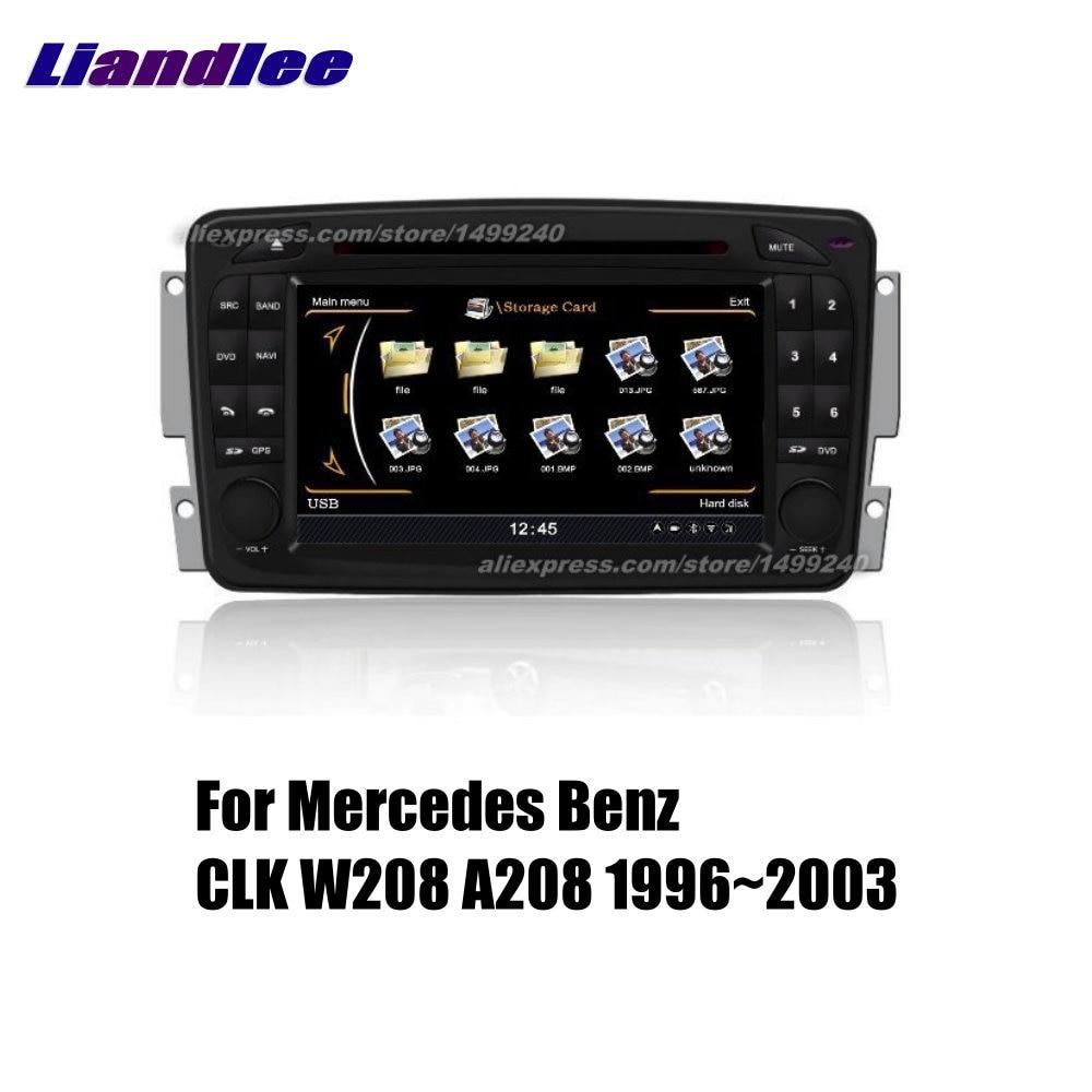 Liandlee coche 2 din Android para Mercedes Benz CLK W208 A208 1996 ~ 2003 Radio GPS mapas de navegación reproductor HD pantalla BT WIFI medios de comunicación