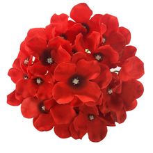 50pcs 15CM  Silk Hydrangea Flower Head Artificial Flowers DIY Wedding Party Decoration Supplies Fake Home Decorations