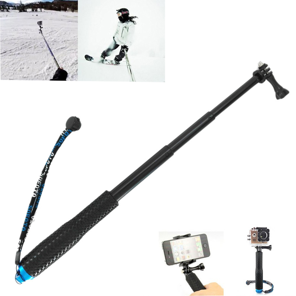 19 Inch Telescopic Handheld Selfie Monopod Extendable Pole Stick For Gopro Hero 6 5 4 3+ 3 Xiaomi Yi SJCAM SJ4000 Action Camera